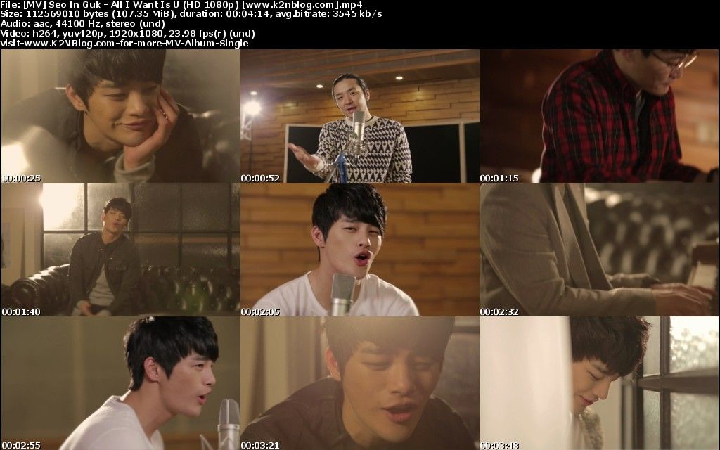 (MV) Seo In Guk - All I Want Is U (HD 1080p Youtube)