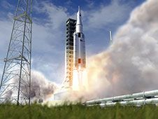Image above: In this artist&#39;s<br /> rendering, a Space Launch System<br /> rocket lifts off with an Orion<br /> spacecraft atop. NASA&#39;s heavy-lift<br /> launch vehicle will provide a new<br /> capability for human exploration<br /> beyond low-Earth orbit. SLS is<br /> designed to be flexible for launching<br /> spacecraft for crew and cargo missions.<br /> Image credit: NASA<br /> <a href='http://www.nasa.gov/images/content/741781main_sls_launch-full.jpg' class='bbc_url' title='External link' rel='nofollow external'>� Larger Image</a>