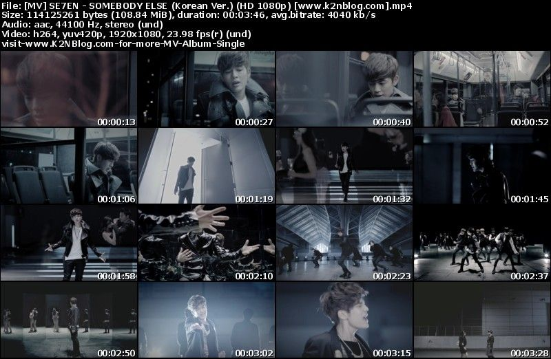 [MV] SE7EN   SOMEBODY ELSE (Korean Ver.) [HD 1080p Youtube]
