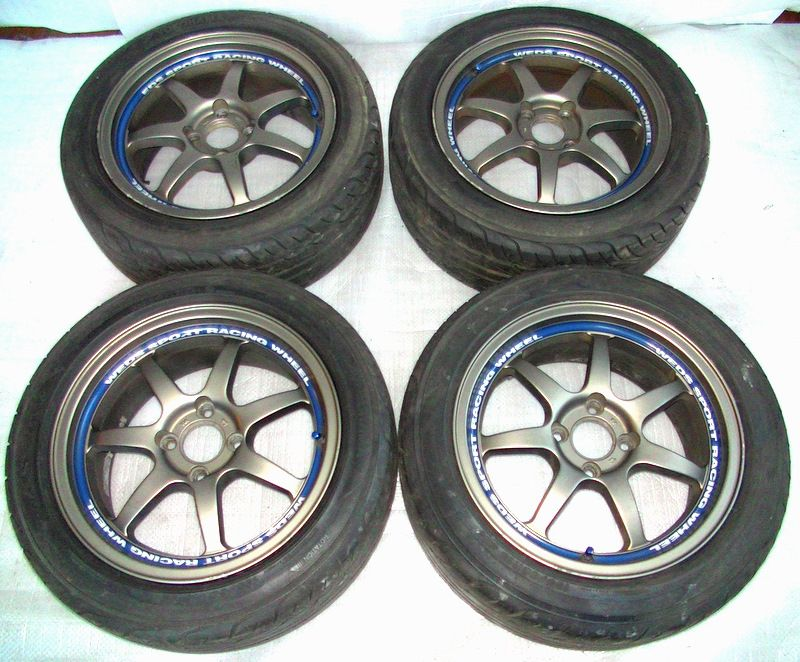 WEDS sport racing SA90 15 7J 4x100 Rims Alloy Wheels Civic MX5
