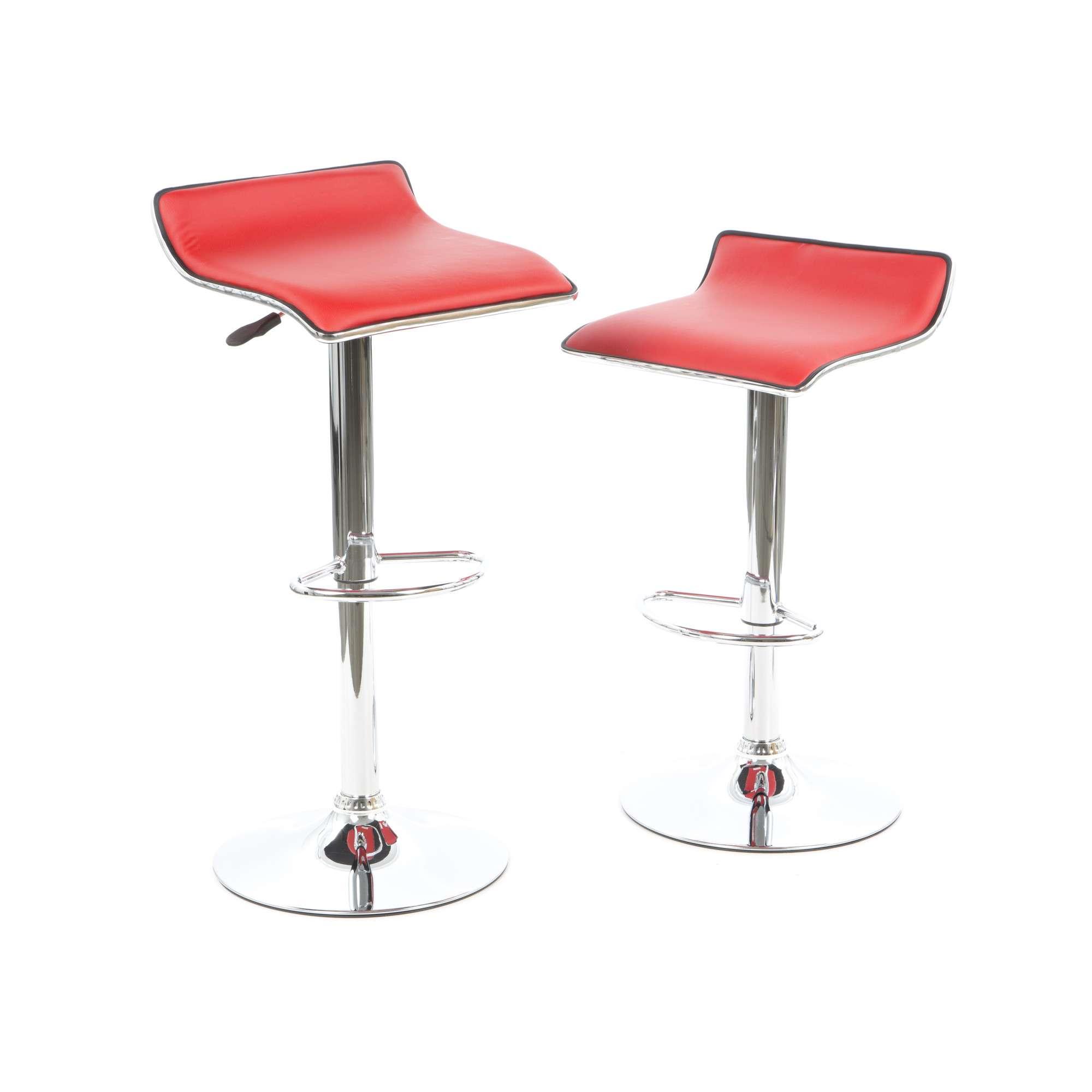set sillas banco para cocina barra powell rojo cromado vv en mercado libre with sillas de barra de cocina