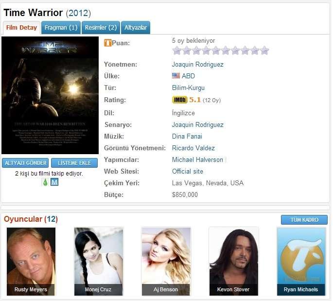 Time Warrior - 2012 DVDRip XviD - Türkçe Altyazılı Tek Link indir